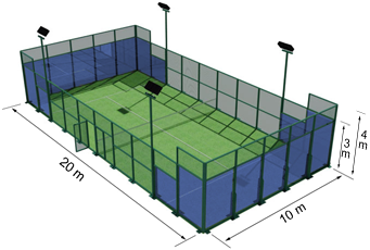 Bildergebnis für padel tennis feld