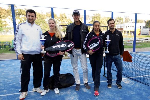 Siegerinnen des german Padel Masters 2013: Coletta Bullach und Madeline Bosnjak